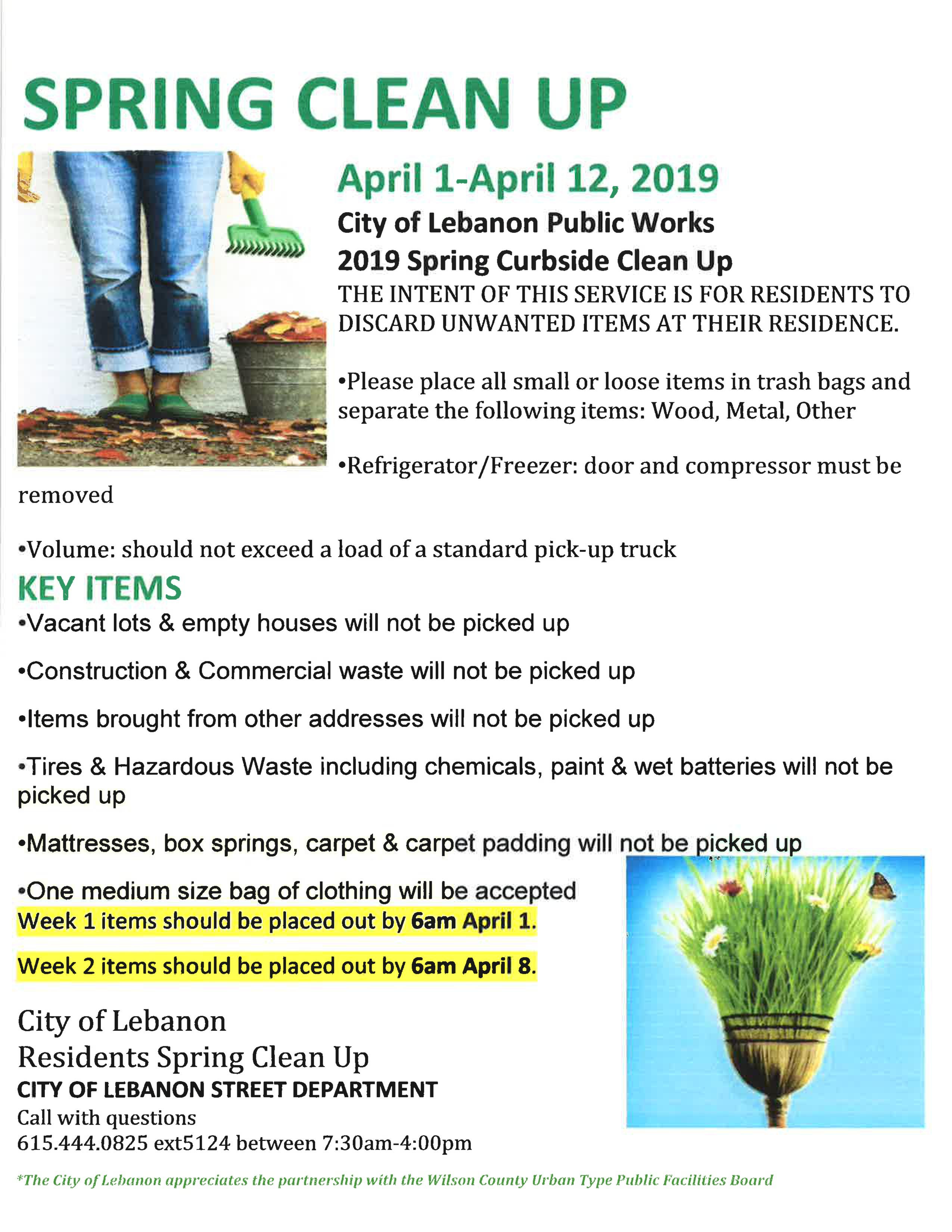 Lebanon TN Spring Cleanup