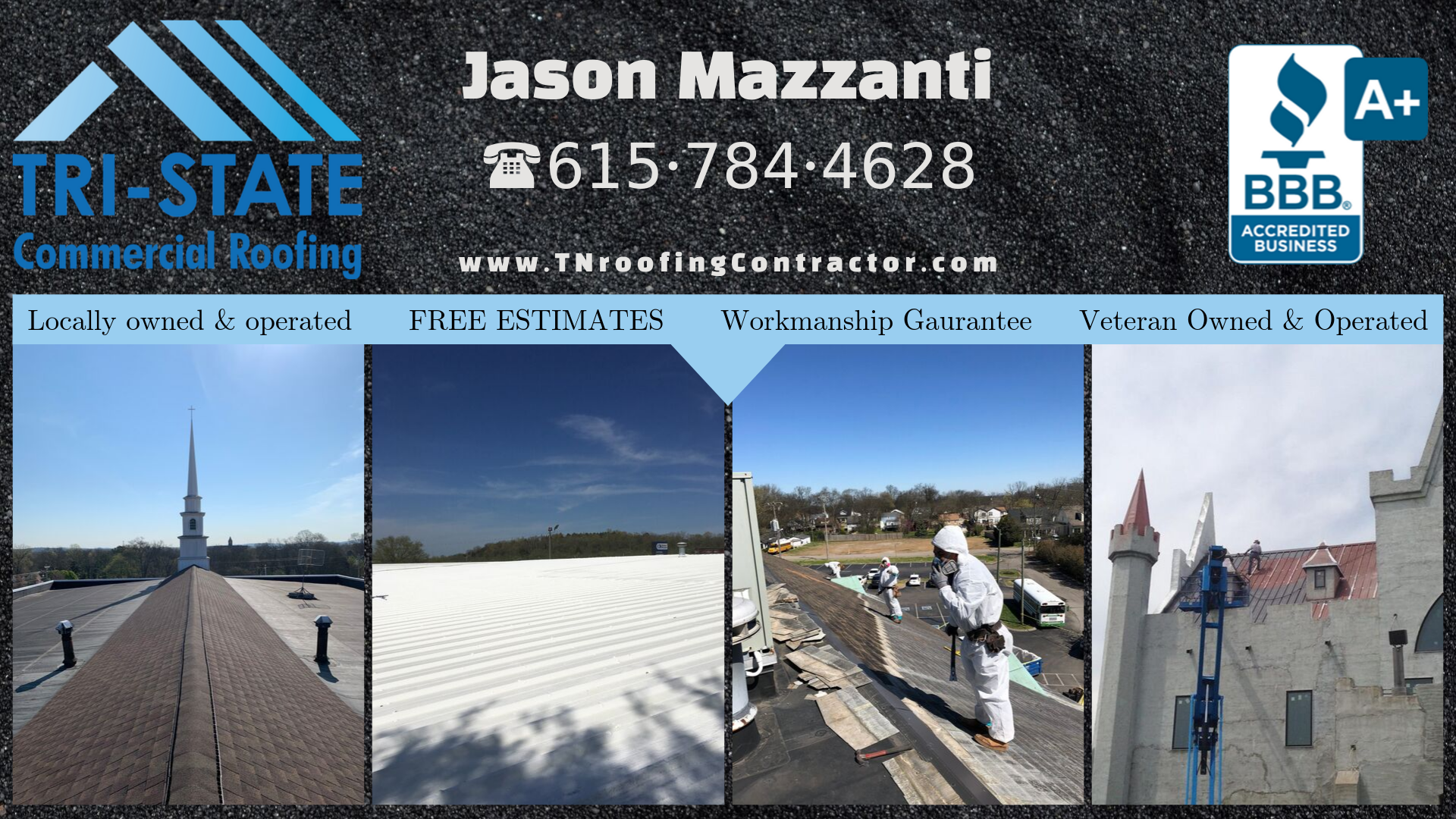 Tri-State Commercial Roofing works on all commercial roofing systems.